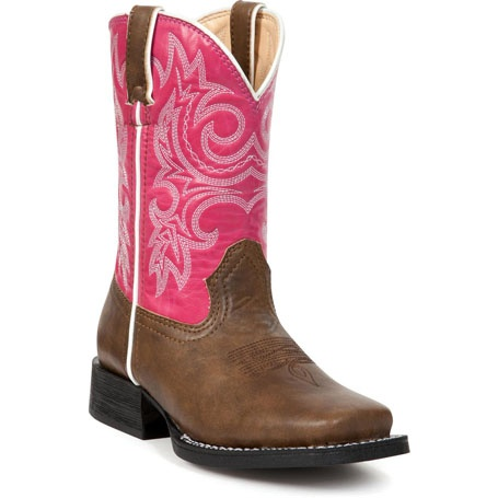 """Lil' Partners by Durango: 8"""" Pink Western Boots for Kids – Style #BT217 - Durango Boot Company"""