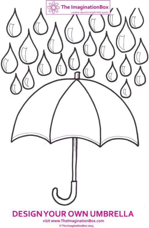 Design your own umbrella this Spring! Free to download and colour.