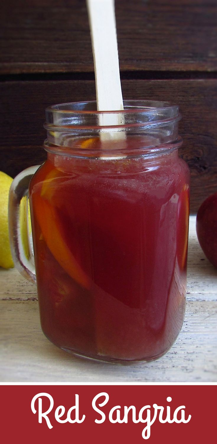 Red sangria   Food From Portugal. If you going to have a party, we have the ideal drink for you! This very pleasant and refreshing red sangria drink have the delicious fruit and cinnamon aromas. Try it!!! #sangria #recipe #drink