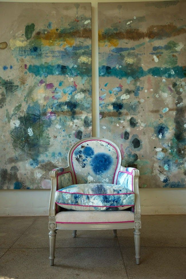 Friends and contemporaries Kiki Slaughter and Sally King Benedict have teamed up for a stunner gallery show in Atlanta. Both celebrated abstract artists, Sally is debuting her mural work and Kiki is showcasing her paint-covered, upholstered furniture and paintings.