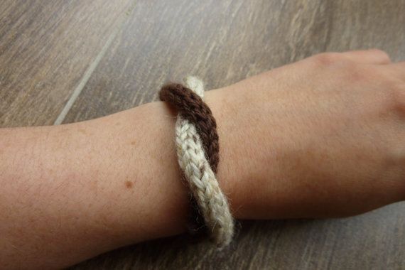 Brown and beige bracelet