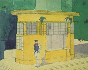 Antonio Sant Elia kiosk 1914