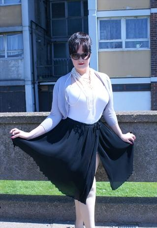Black wrap skirt with bow detail size 14 dancer style.