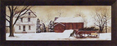 Christmas Trees For Sale by Billy Jacobs 16x40 Farm Barn Wagon Winter Snow Seasons Primitive Folk Art Country Framed Picture Home Cabin Décor http://www.amazon.com/dp/B00KIYS1MC/ref=cm_sw_r_pi_dp_nSmCub14CZR8D