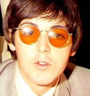 It Looks Like Paul Had Some Light Brown Lenses For His Glasses As Well