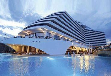 Hotel Titanic Beach Lara, in Turkey
