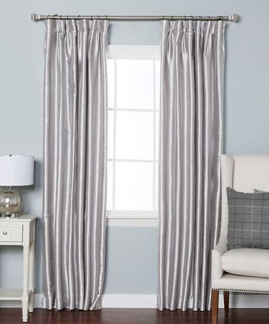 Best Home Fashion Gray Dupioni Pinch Pleat Blackout Curtain Panel Set Of Two Master Bedroom