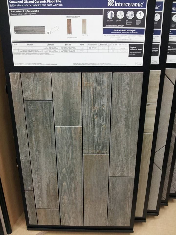 I love this faux wood ceramic tile floor at lowe's! it looks like reclaimed barn wood. am I brave enough to do it??