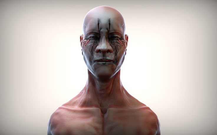 Head 1, Peter Mikielewicz on ArtStation at https://www.artstation.com/artwork/JQKNz