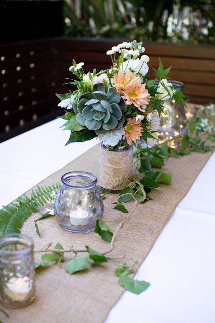 Best burlap table settings ideas on pinterest