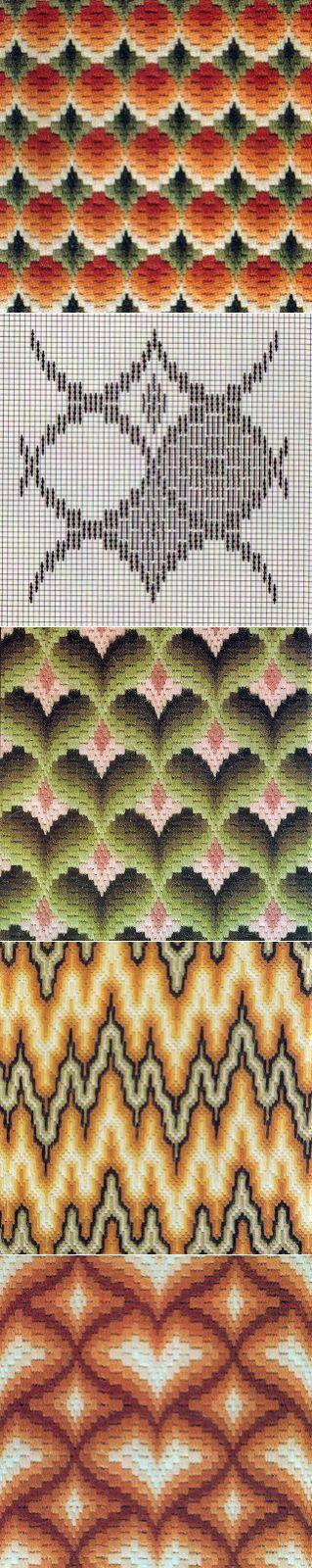 Вышивка барджелло: Коллекция схем