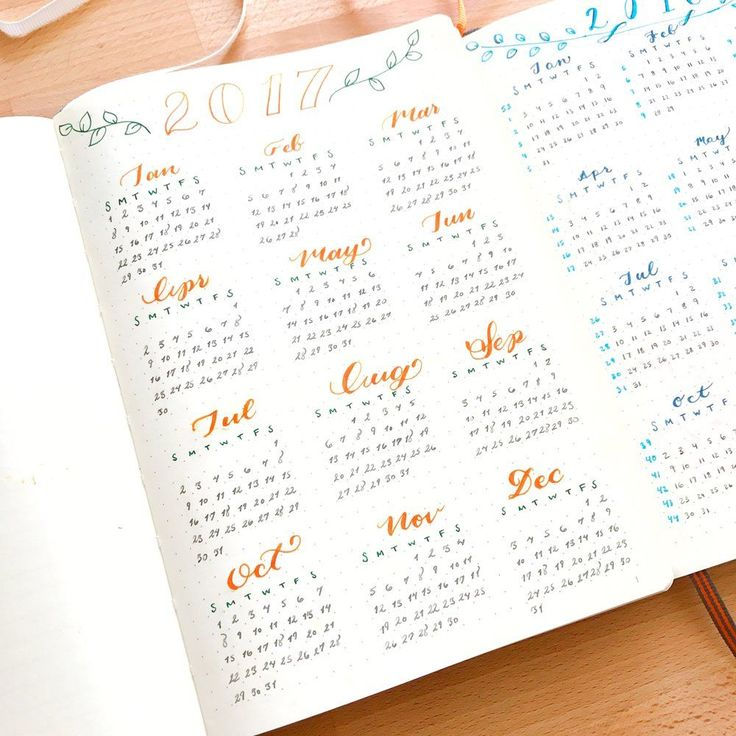 The Year Overview: View the year at a glance in your Bullet Journal