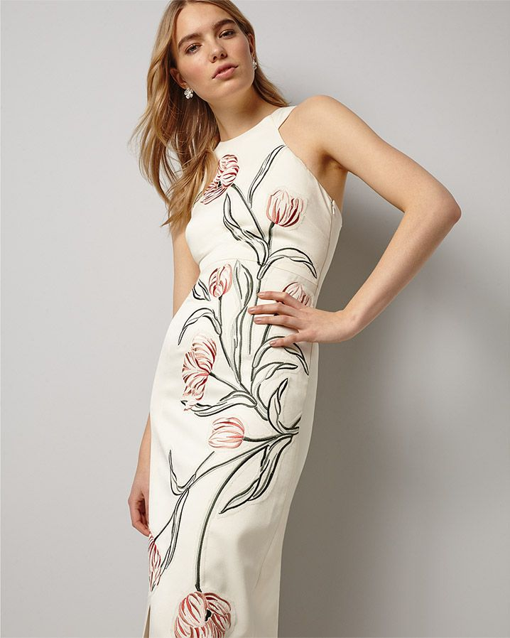 aa3ef5cd Phase Eight Zarah Embroidered Maxi Dress Cream | embroidery ...