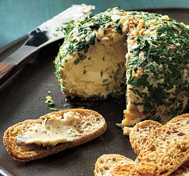 Date, Walnut, and Blue Cheese Ball.