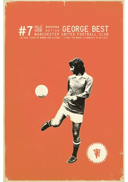 George Best by Zoran Lucic  Sucker For Soccer - Euro 2012
