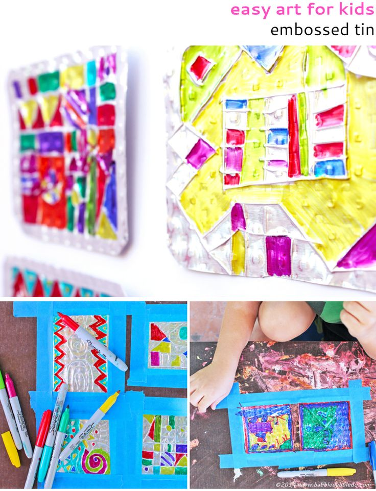 This embossed tin art project makes me incredibly happy - Creative ideas for kids art ...