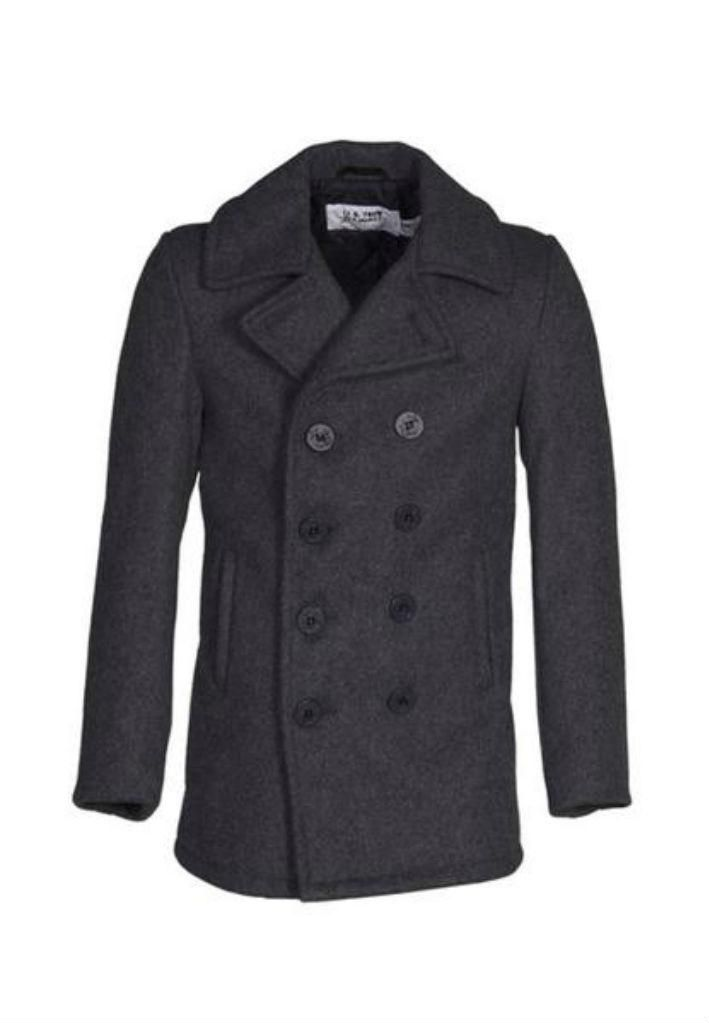 Classic 32 oz. Melton Wool Peacoat - Dark Oxford Grey