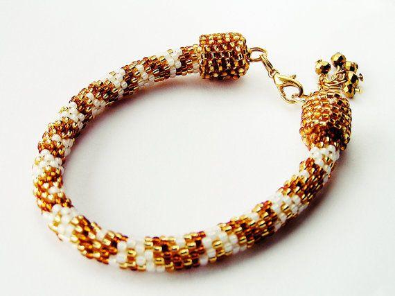 gold beadsbead crochetbeading tiny beads by SHINEmagicJewelry