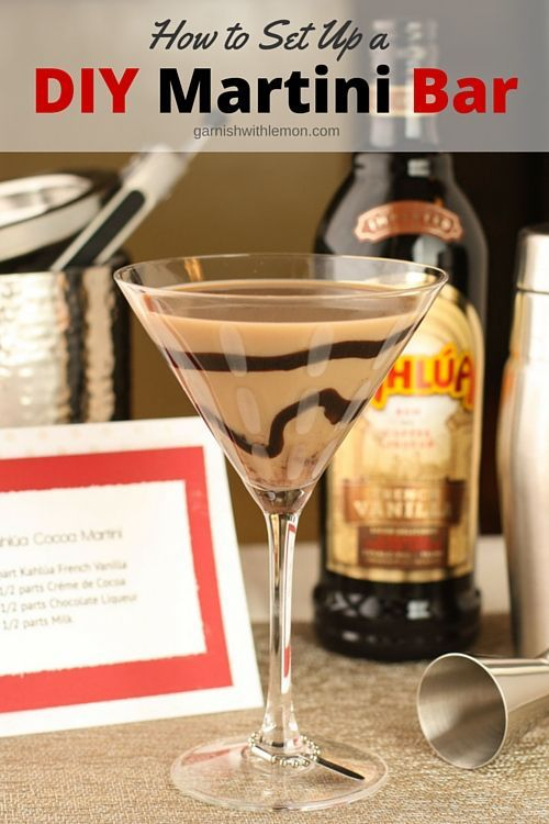 Entertaining doesn't have to be stressful! Set up a DIY Martini Bar at your holiday party and spend the time with your guest, not being bartender!