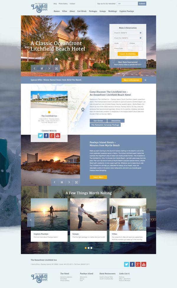 The Oceanfront Litchfield Inn by Agency Dominion, via Behance