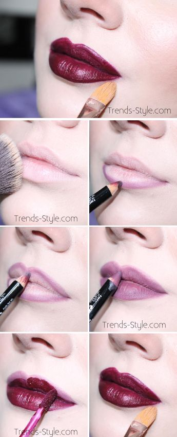 "Valentines Day Lip Tutorial using bare minerals foundation, nyx ""plum"" lip liner, anastasia beverly hills ""sad girl"" liquid lipstick, MAC concealer to clean up."