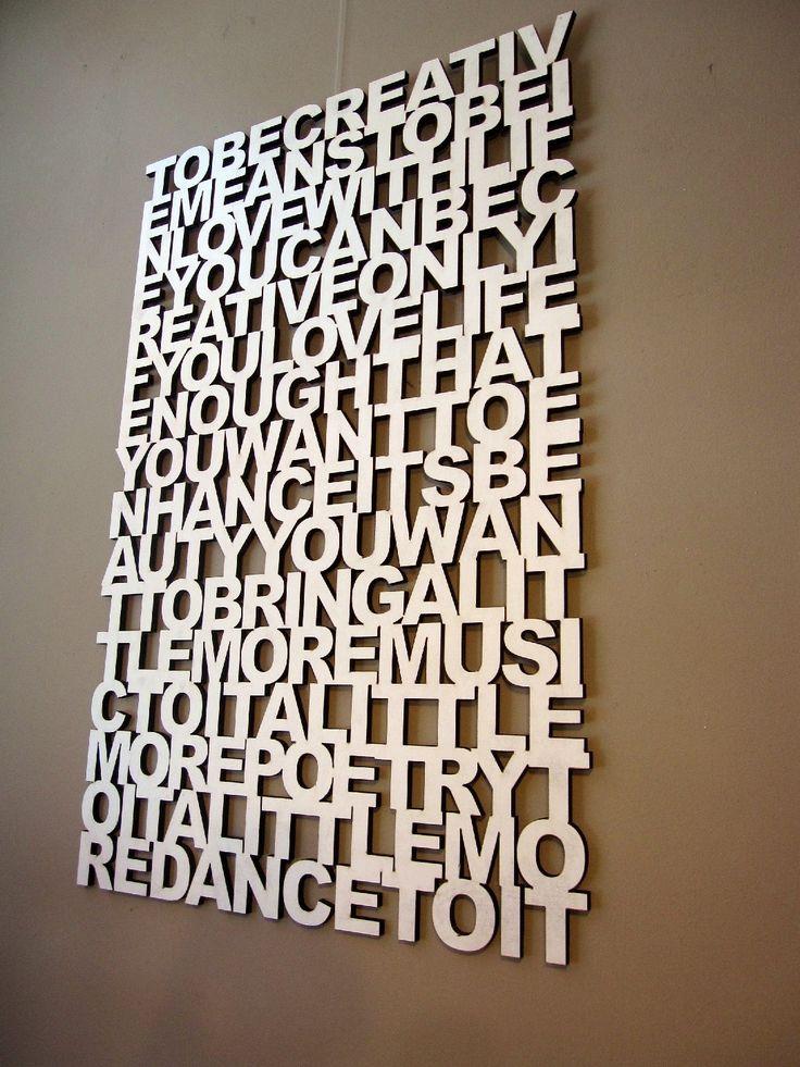 To be creative - wall art