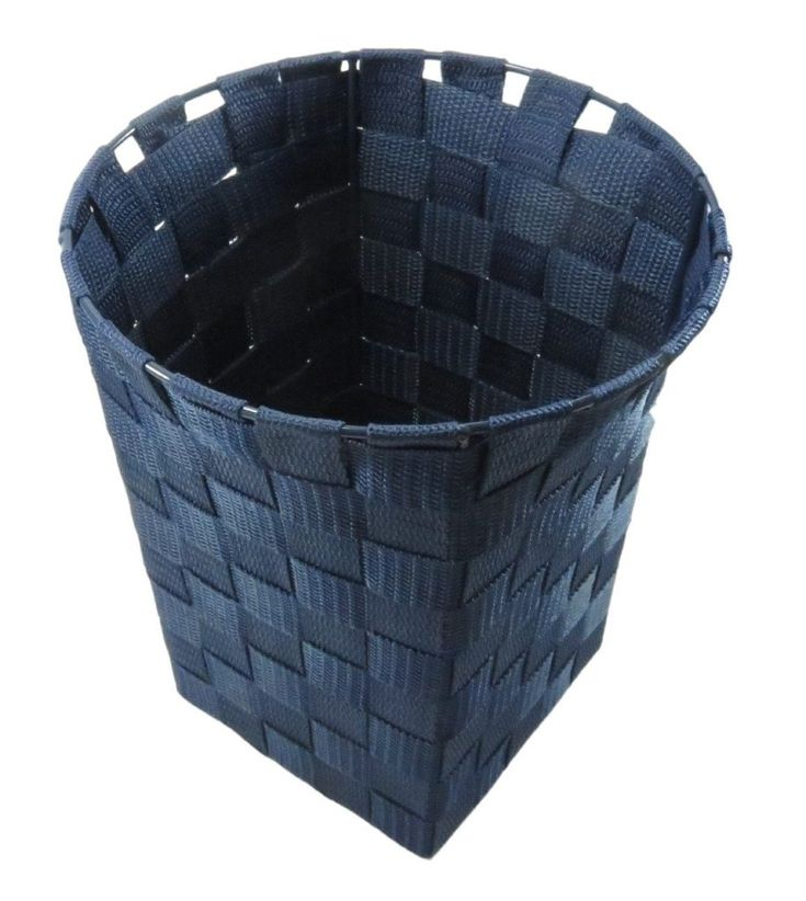 Woven Strap Square with Round Top Wastebasket