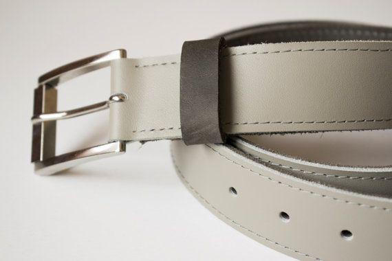 Genuine leather belt // handmade minimal urban modern by Tradde