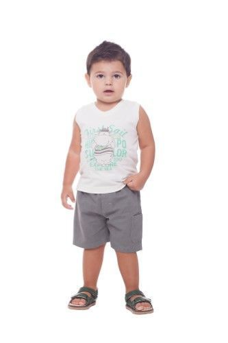 231871b83 Baby Boy Outfit Graphic Tank Top   Shorts Set 3-12 Months - Ivory ...
