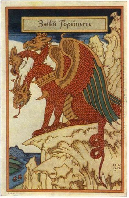 Zmey Gorynych 1912 - Lukisan Minyak