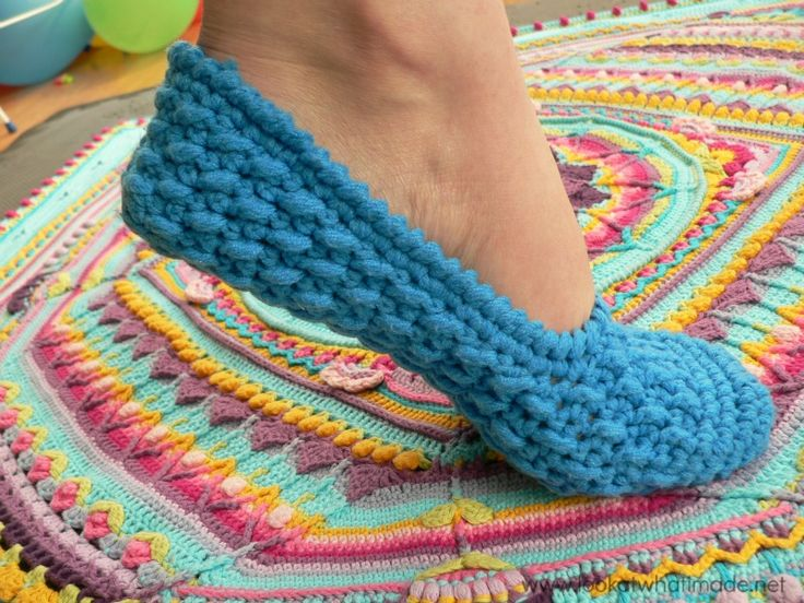 These Textured Crochet Ballet Slippers by Sony321 are both comfy and cute. I love the textured pattern.