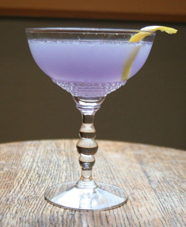 ^Aviation^.  Ingredients 2 oz gin 1/2 oz maraschino liqueur 1/2 oz creme de violette 3/4 oz lemon juice...