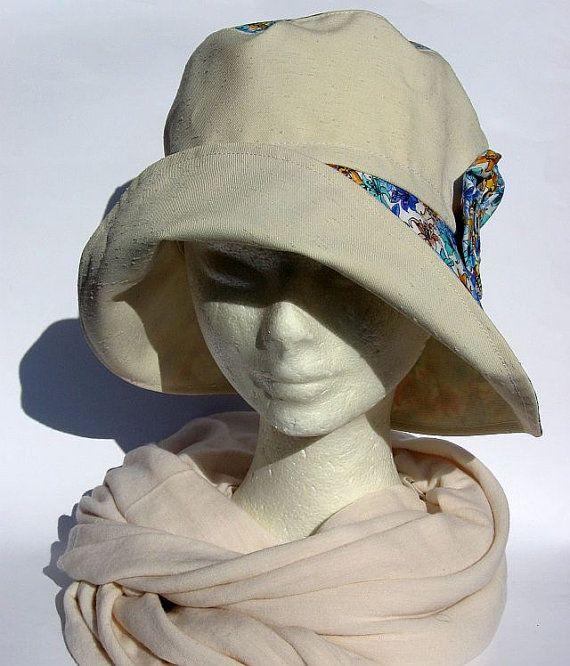 cappello donna primaverile fatto amanocon falda stile