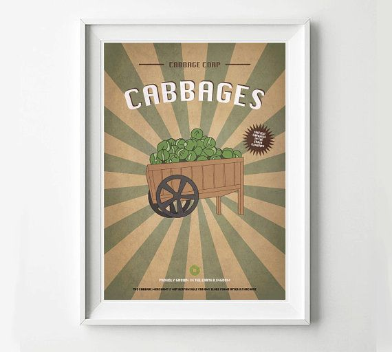 Retro Avatar Advertisement - My Cabbages! - Earth Kingdom, Avatar Poster, Avatar Art, Vinatge Ad