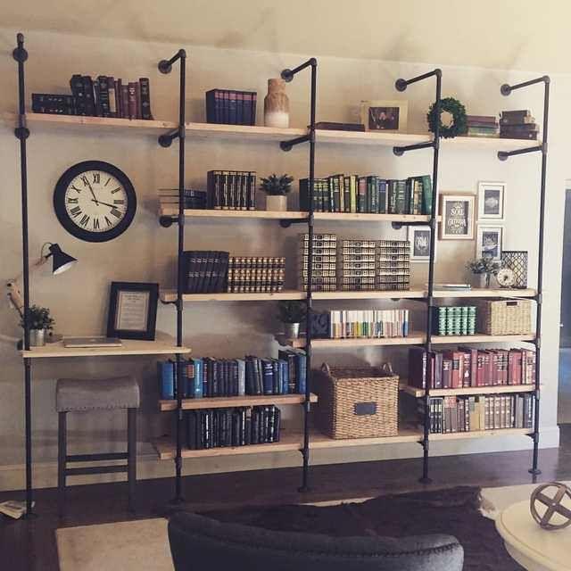Diy Industrial Bookshelves Industrial Home Design Diy