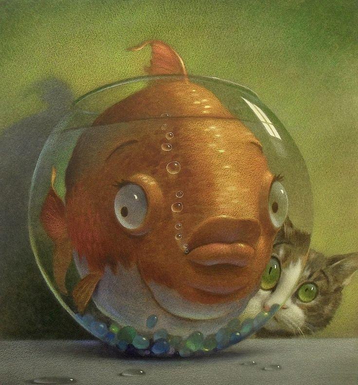 Картинка золотая рыбка прикол, ногтях прикольные
