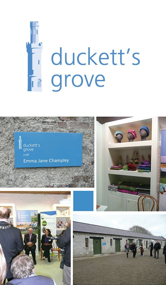 Duckett's Grove - Identity, Sub Identities, Signage, Pop-up Banners, etc. www.akgraphics.ie