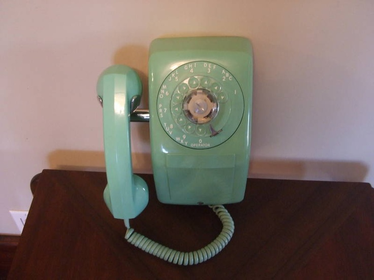 Vintage 1971 Green Wall Phone Wall phone, Finding a
