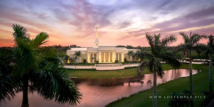 Fort Lauderdale Temple Aerial Morning Panoramic | LDS Temple Pictures