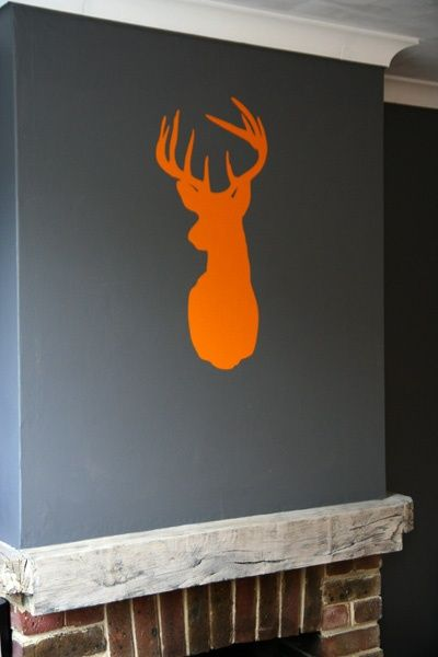 grey wall orange wall sticker - Google Search