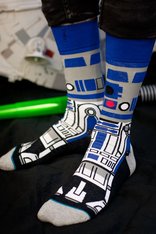 $20 || Artoo (or R2-D2, if you want to be formal), the little droid with an advanced sass program and a lightspeed wit. We know he's an important soldier of the Rebel Alliance, but he's also about the cutest thing to go on a sock.
