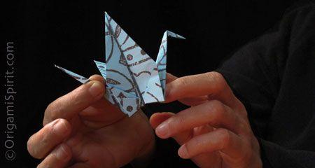 Classic Origami Crane #origamibird #easyorigami