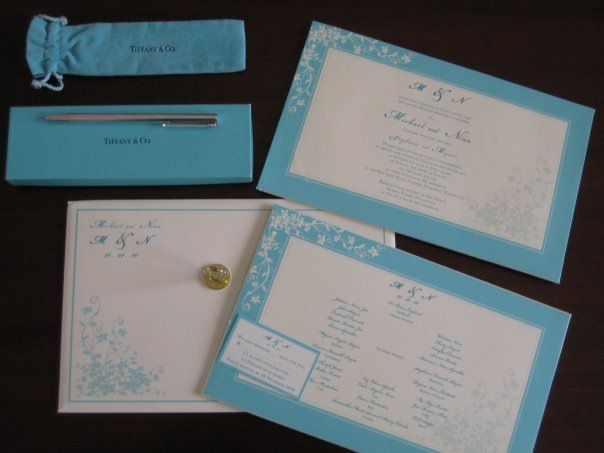 our wedding invite and my Tiffany & Co. pen