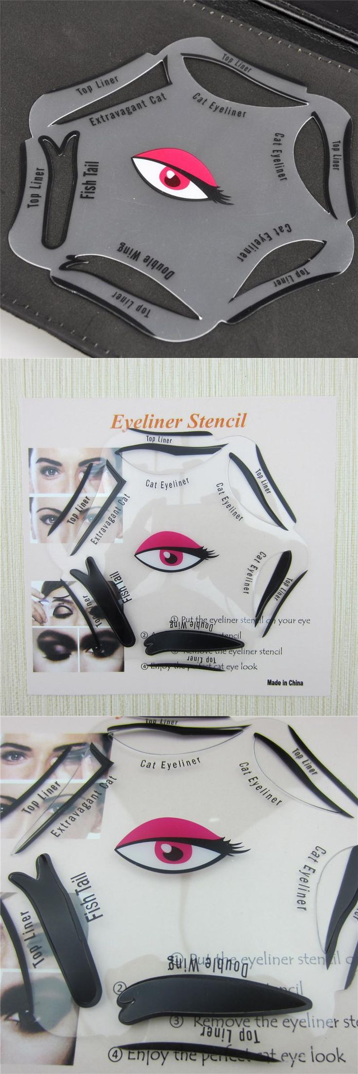 [Visit to Buy] 6 in 1 Stencils Eyeliner Template Smoky Makeup Guide Cat Eye Liner Quick Tool Hot Sale New #Advertisement