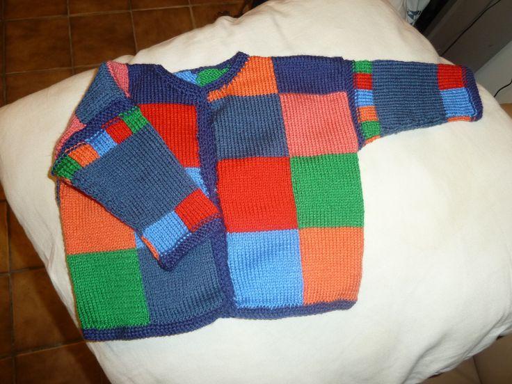 Gilet inspiré d'un modèle de Bergère de France, tricoté avec la laine Apilou de Véritas