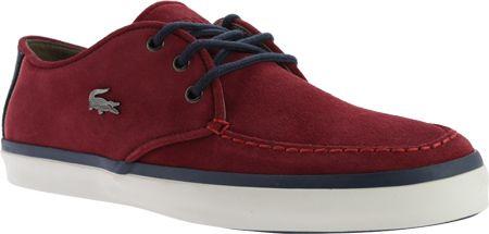 Men's Lacoste Sevrin 10 Sneaker - Burgundy Suede Moc Toe Shoes