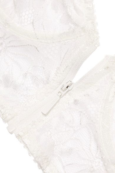 Lonely - Lilith Stretch-lace And Jersey Underwired Bra - White - 36C