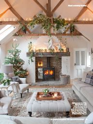 Absolutely love the fireplace. From Country Homes & Interiors December 2013.
