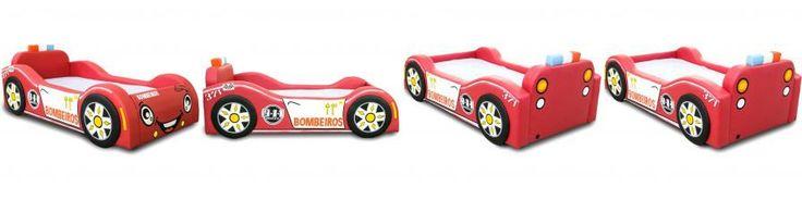 Minicama Baby Bombeiro Vermelho Cama Carro