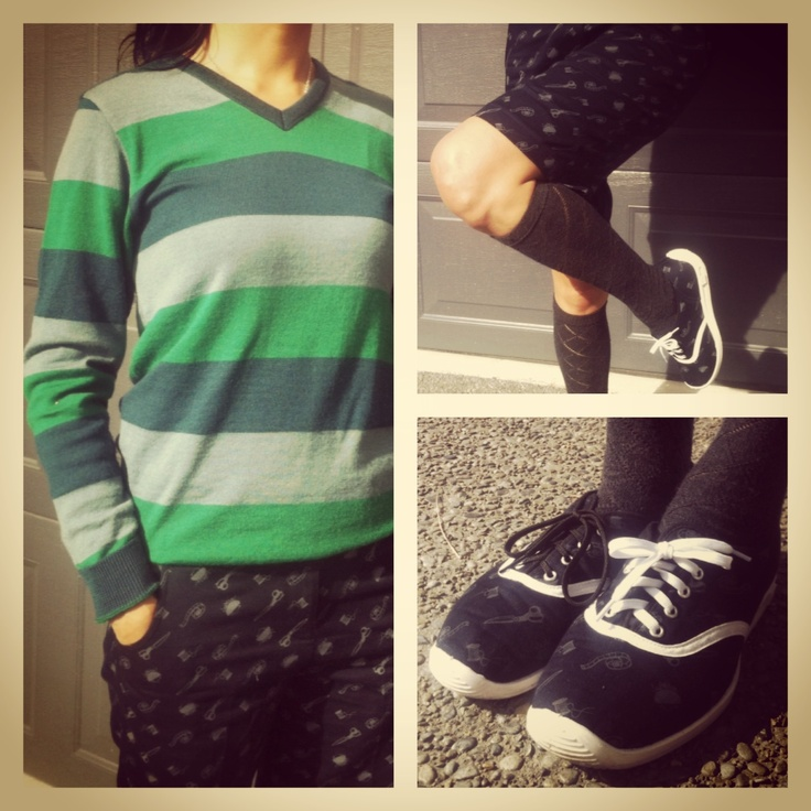 What's Mickey wearing today?? Phoenix Sweater, Raven Short and Raven Shoes #wearingmister